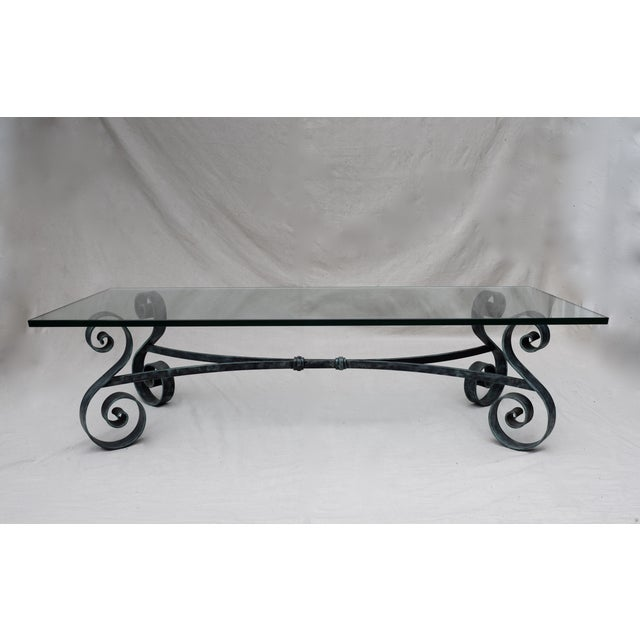 Studio Wrought Iron Glass Coffee Table Chairish