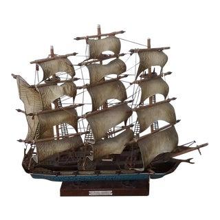 Vintage Flying Cloud 1846 Clipper Wooden Ship Model