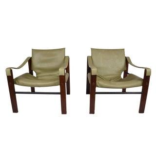 Maurice Burke for Arkana Safari Lounge Chairs- A Pair