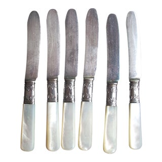 Mother of Pearl Canape Knives- Set of 6