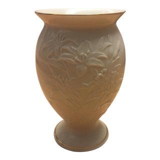 Lenox Floral Creamware Porcelain Vase