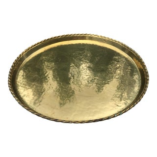 Mid-Century Swedish Hammered Brass Tray