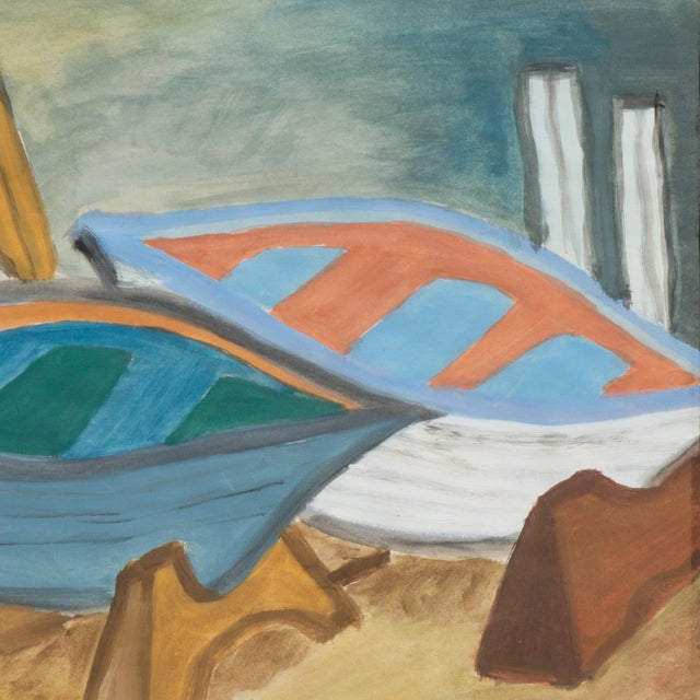 Regina Schafer Painting - Fishing Boats, Italy - Image 3 of 4