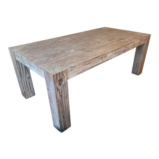 Modern Reclaimed Wood Dining Table