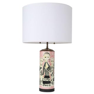 PARTY DRESS CERAMIC TABLE LAMP BY MARCELLO FANTONI