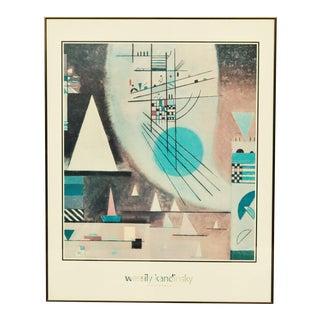 Wassily Kandinsky Framed Mid Century Modern 'Verstummen' Print