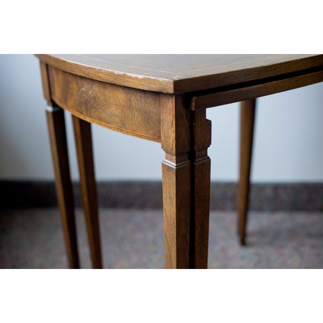 Baker Mid-Century Walnut Nesting Tables - A Pair - Image 3 of 4