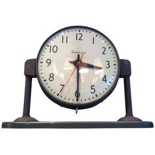 Double Face Simplex Factory Clock