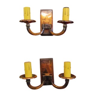 European Mid-Century Modern Wall Sconces - A Pair