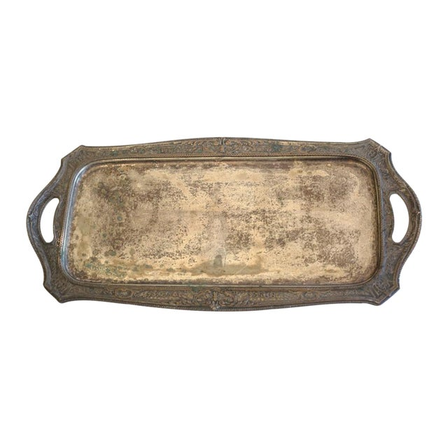 Vintage Silver Plated Tray - Image 1 of 8