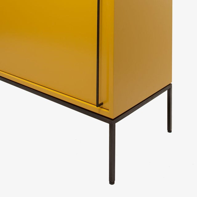 Customizable Re: 379 Grass Green Lacquered Credenza on Brass base - Image 7 of 9
