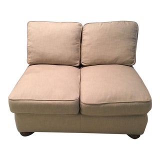 "Restoration Hardware Beige ""Love Seat"""