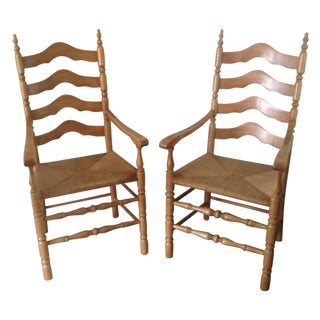 Vintage Country King Tall Chairs - A Pair