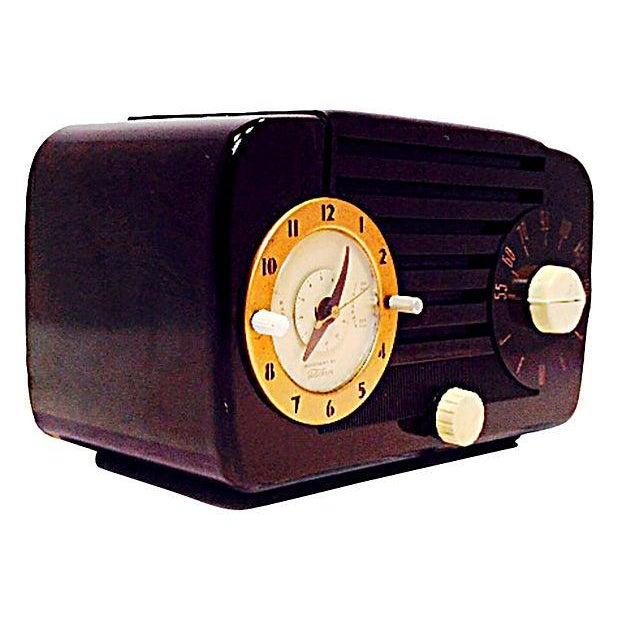 Jewel Telechron Clock Radio C. 1950 - Image 2 of 6