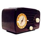 Image of Jewel Telechron Clock Radio C. 1950
