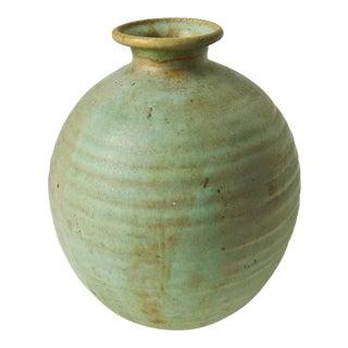 Studio Art Pottery Vase, Pale Moss Green Ceramic Vase