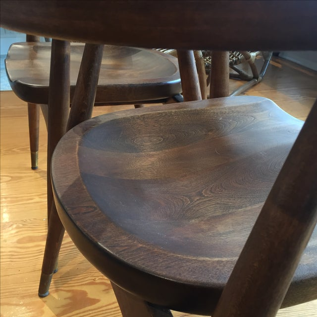 Mid-Century Captain's Chairs - A Pair - Image 9 of 10
