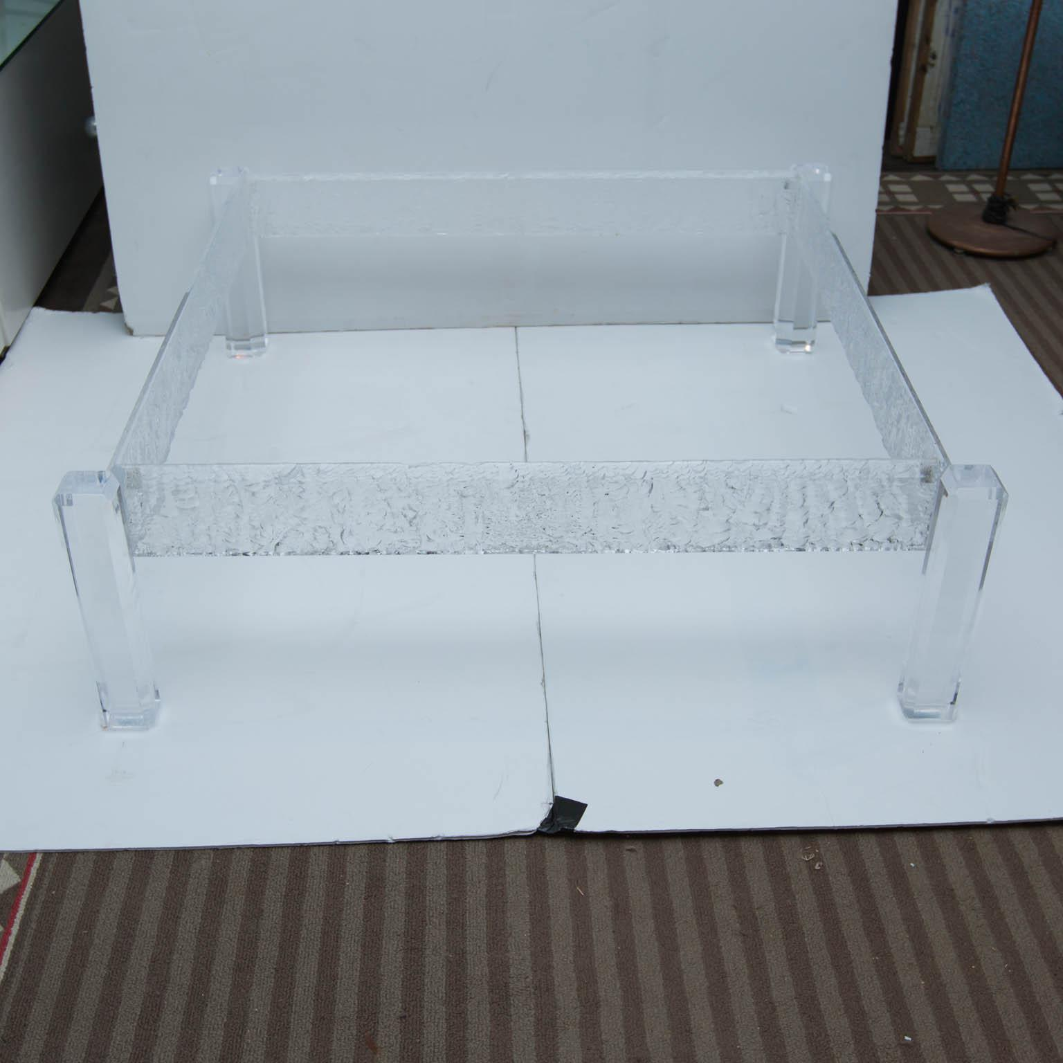 Large Custom Lucite Coffee Table Base   Image 2 Of 10