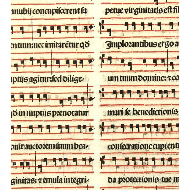 Antique Music Sheet, Printed in 1525 - Image 3 of 4