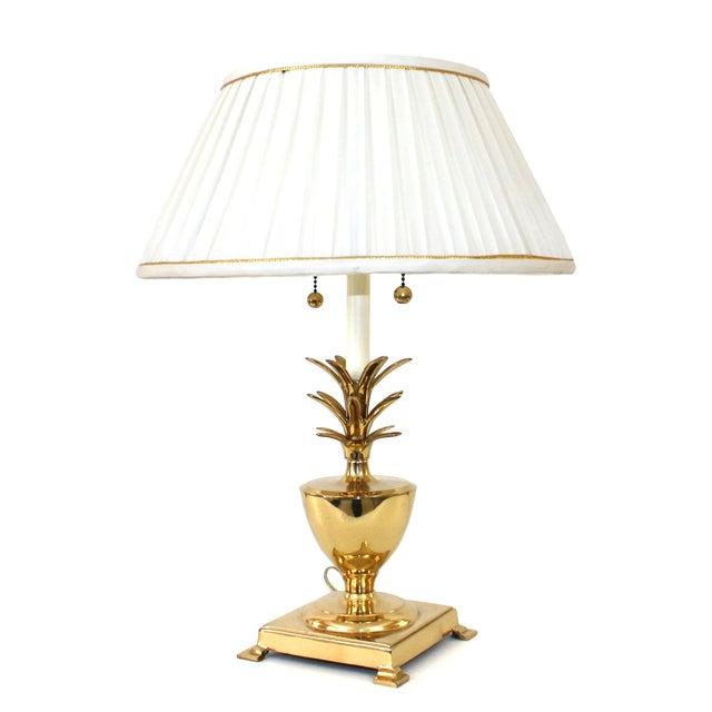 Hollywood Regency Brass Pineapple Desk Lamp - Image 2 of 10
