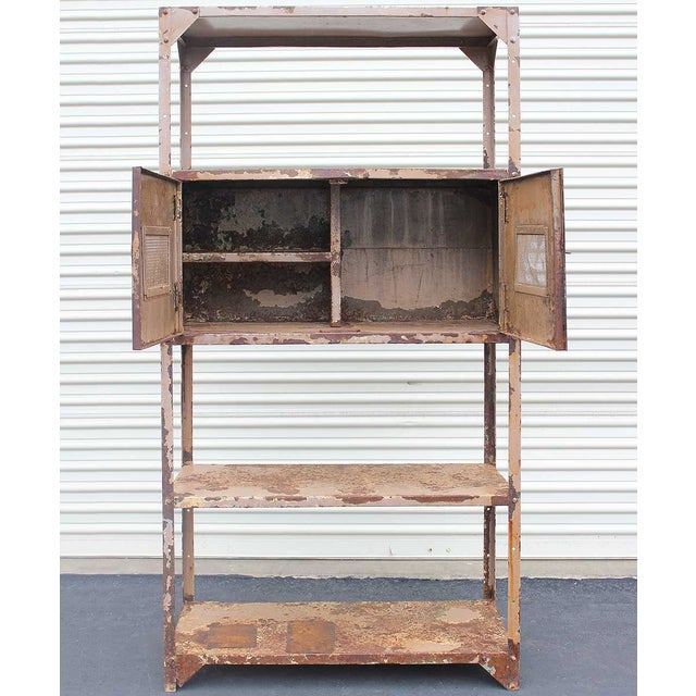 Vintage Industrial Mauve Iron Rack - Image 4 of 6