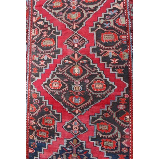 "Semi-Antique Caucasian Kazak Runner - 4'4"" x 10'1"" - Image 5 of 9"