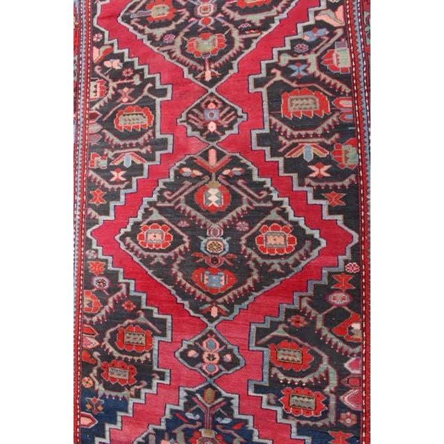 """Image of Semi-Antique Caucasian Kazak Runner - 4'4"""" x 10'1"""""""