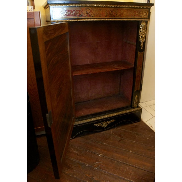 authentic meuble boulle napol on iii cabinet chairish