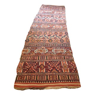 Antique Turkish Kilim Runner, 1800's, 4' x 13' 5""