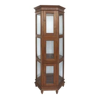 Antique Hexagonal Display Cabinet