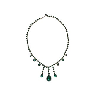 50s Emerald Rhinestone Necklace
