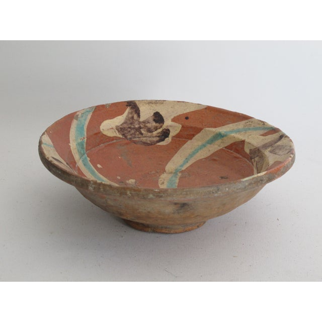 Image of Terracotta Bowl with Flower Motif