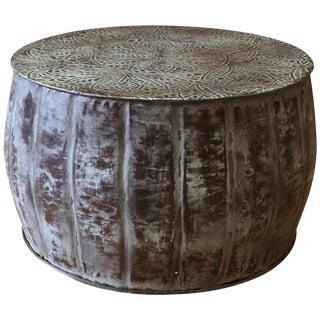 Iron Round Accent Drum Table