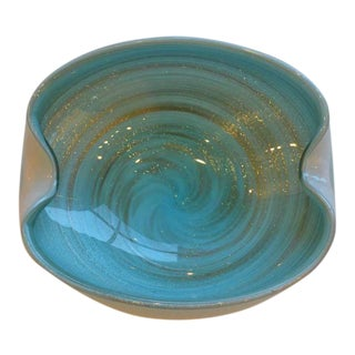 Alfredo Barbini Italian Handblown Murano Glass Bowl