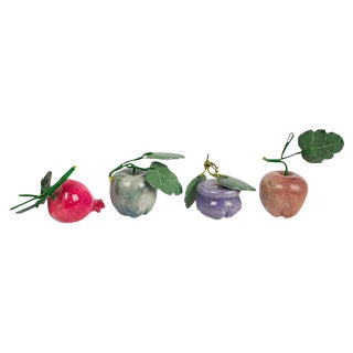 Carved Stone Fruit - Set of 4