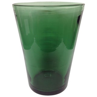 Transparent Green Venini Glass Vase