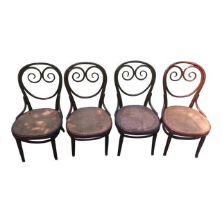 Thonet Cafe Bentwood Chairs - Set of 4