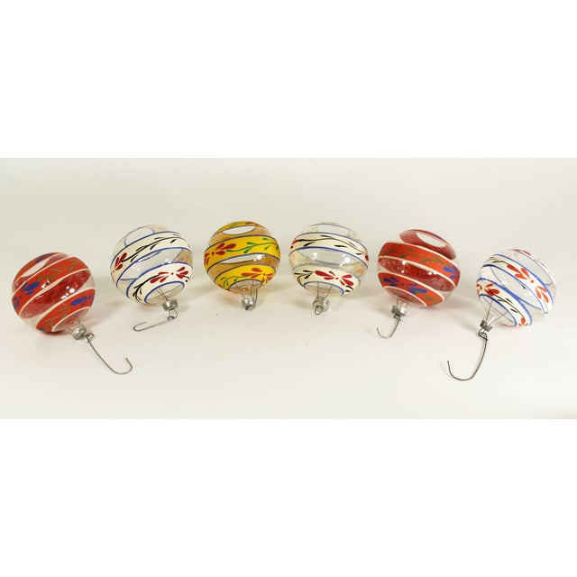 Vintage Glass Christmas Ornaments (Set of 6) - Image 2 of 3