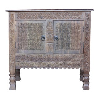 Swat Carved Cabinet Nightstand