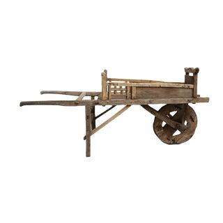 Vintage Elm Wheel Barrow