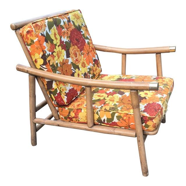 John Wisner for Ficks Reed Rattan Chair - Image 1 of 5