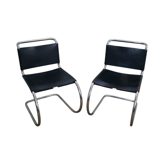 Knoll Mies Van Der Rohe Side Chairs - A Pair - Image 1 of 10