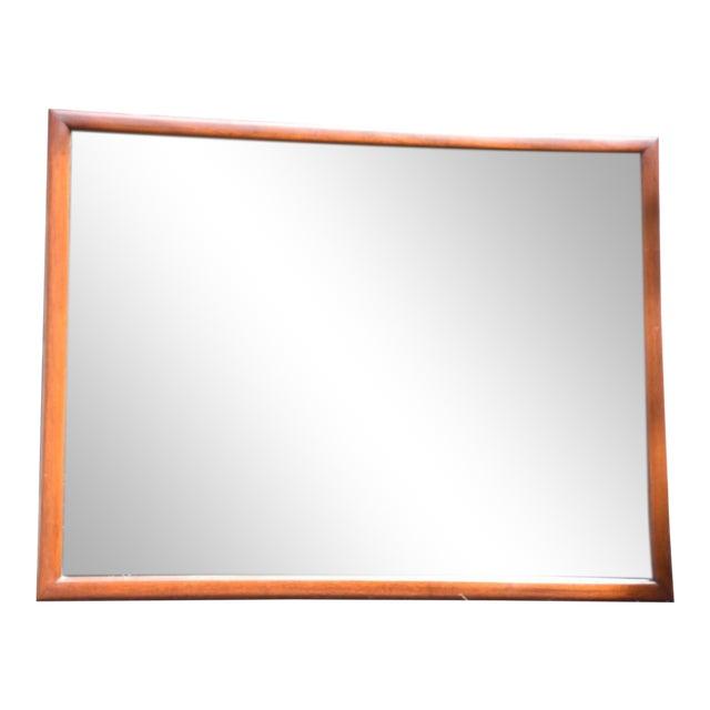 Mid-Century Mahogany Mirror - Image 1 of 5