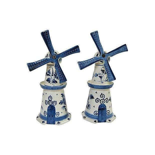 Delft Windmill Decanters - A Pair - Image 1 of 4