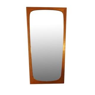 "Danish Modern Tall Teak Mirror 27.5"" high - Signe"