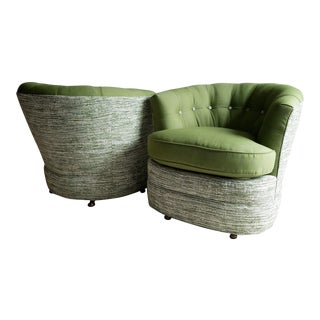Mid-Century Barrel Chairs- a Pair