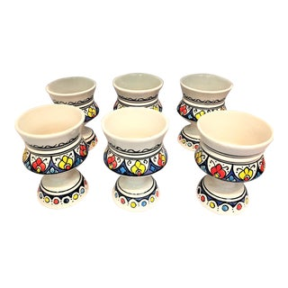 Atlas Hand Painted Cups - Set of 6