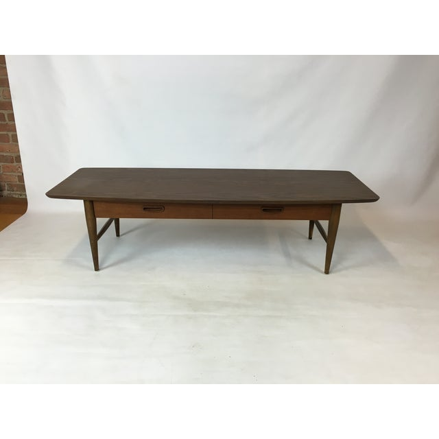 Lane Mid-Century Surfboard Coffee Table - Image 2 of 7
