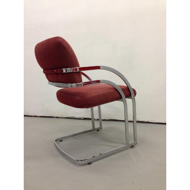 Image of Midecentury Milo Baughman Style Club Chairs - 4
