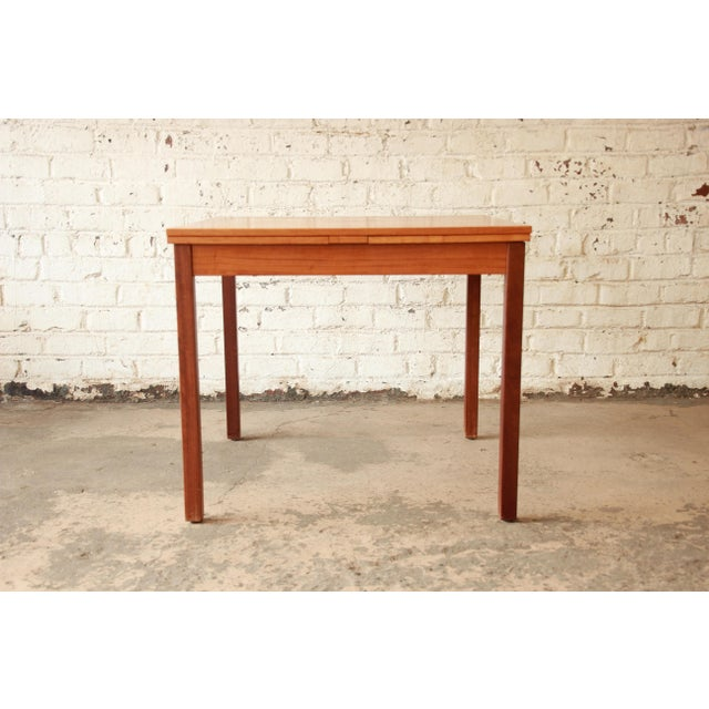 Ansager Mobler Square Danish Modern Teak Extension Dining Table